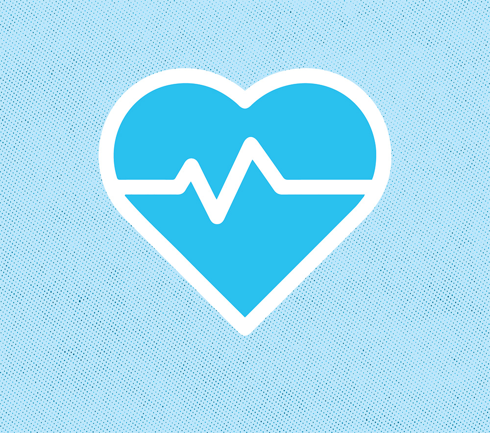 icon of a heart with a pulse through the middle
